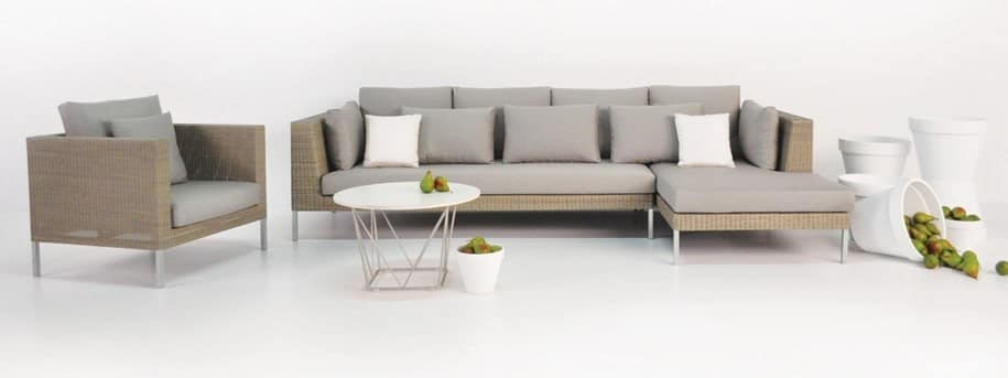 Madison Wicker Sectional Sofa