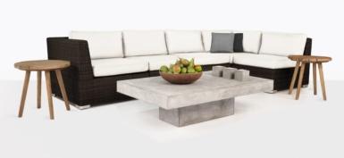 Paulo Java Wicker Sectional Sofa