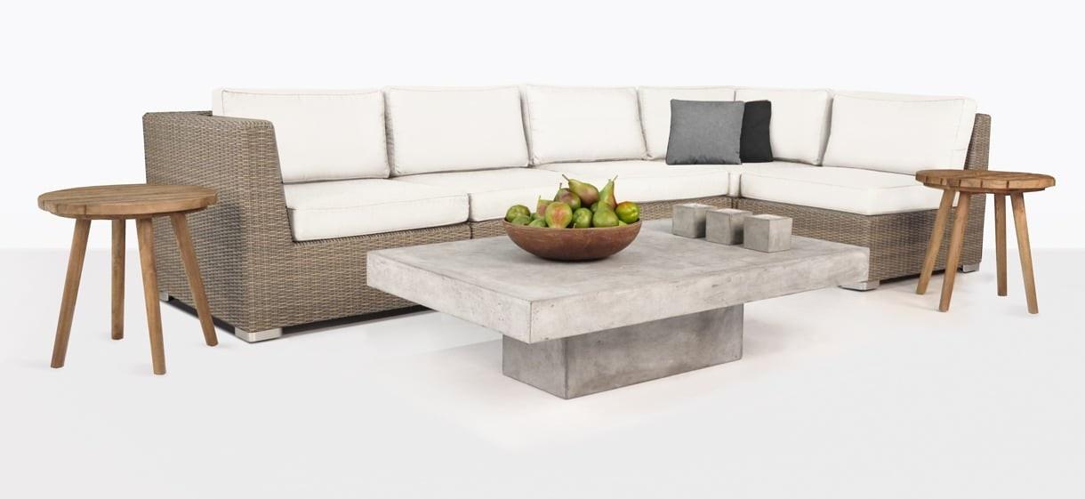 Paulo Outdoor Wicker Sectional Sofa