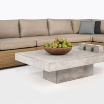 Paulo Wicker Sectional Sofa with Cushions