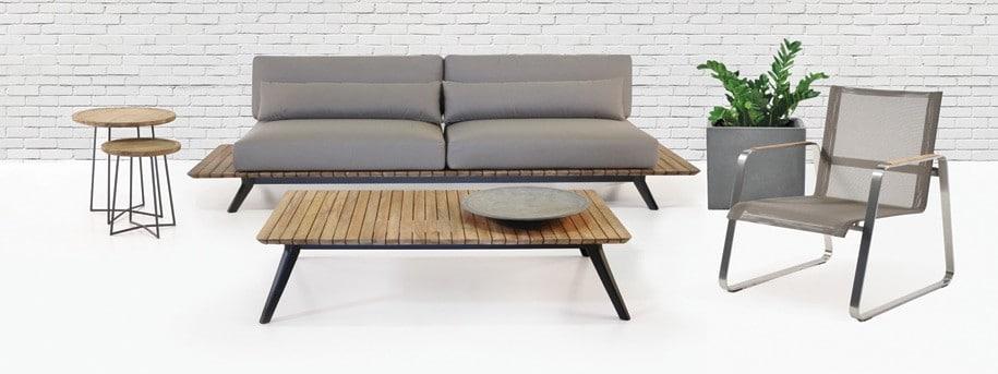 Platform Mid-Century Outdoor Sofa