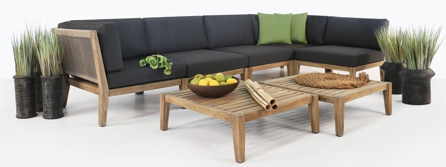 Ventura Teak Outdoor Sectional