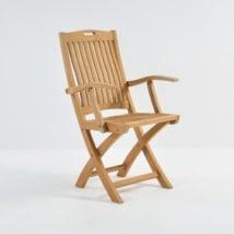 oxford a-grade teak folding arm chair