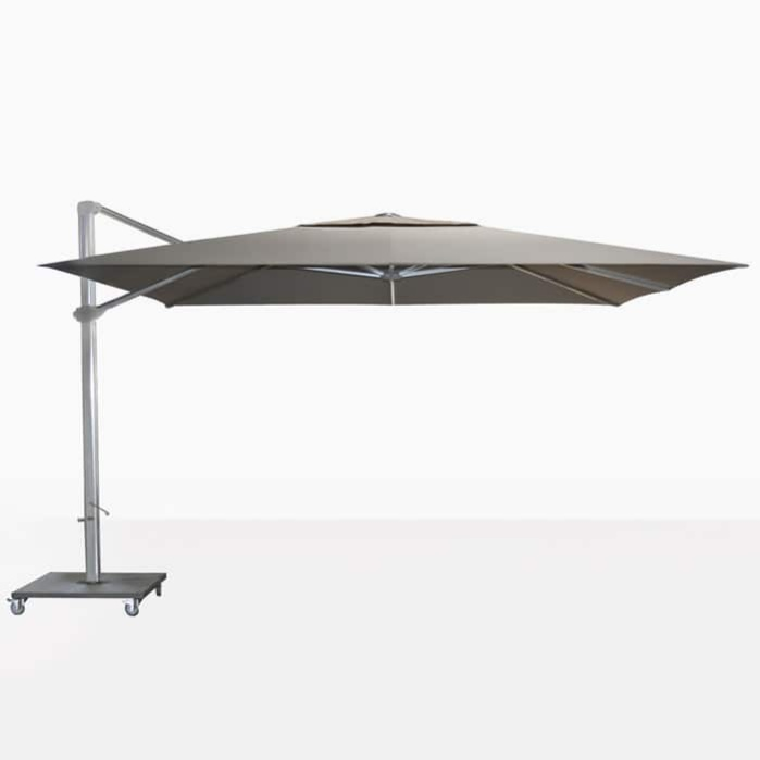 ascot umbrella in taupe -flat