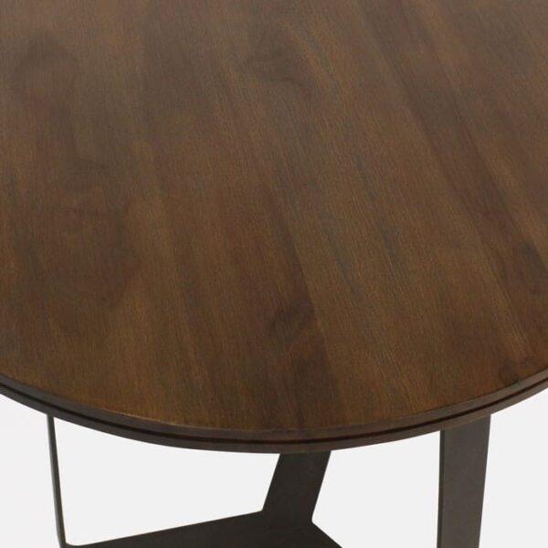 reclaimed teak tabletop closeup image