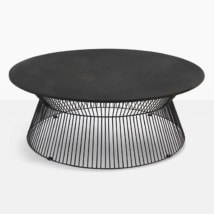 black round outdoor coffee table