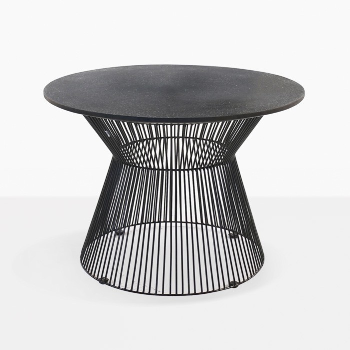 Black Deco Round Side Table