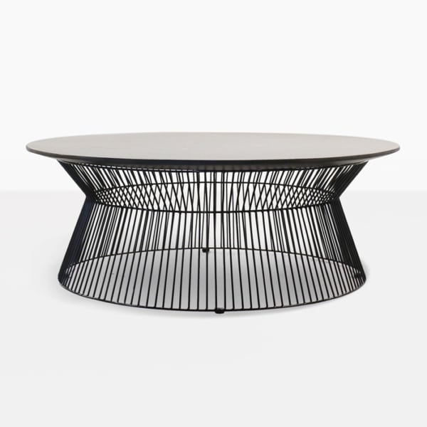 deco round coffee table side view
