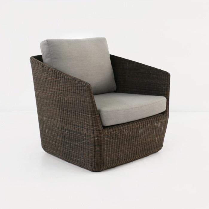 mocha wicker relaxing chair