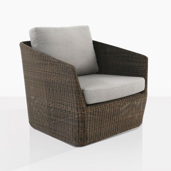 Urban Brown Wicker Club Chair With Cushions