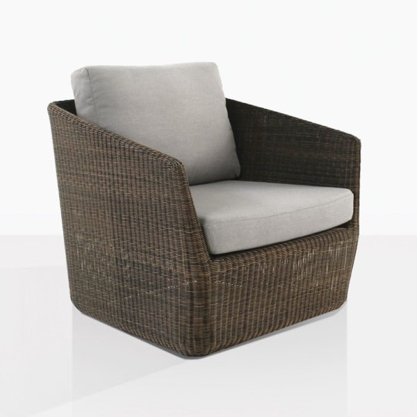 Urban Brown Wicker Club Chair With Cushions