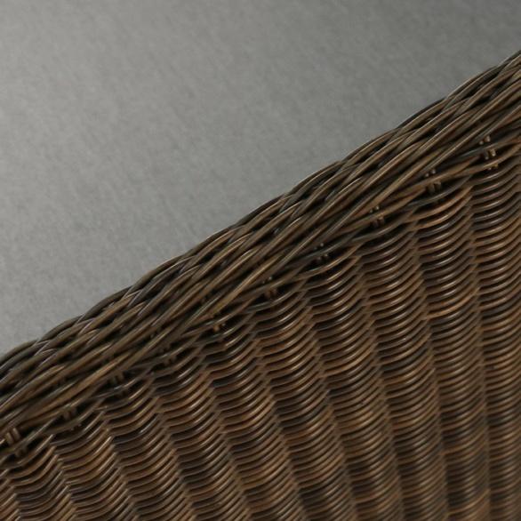 mocha wicker weave close up