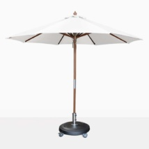round dixon umbrella white