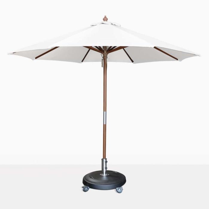 round dixon umbrella white