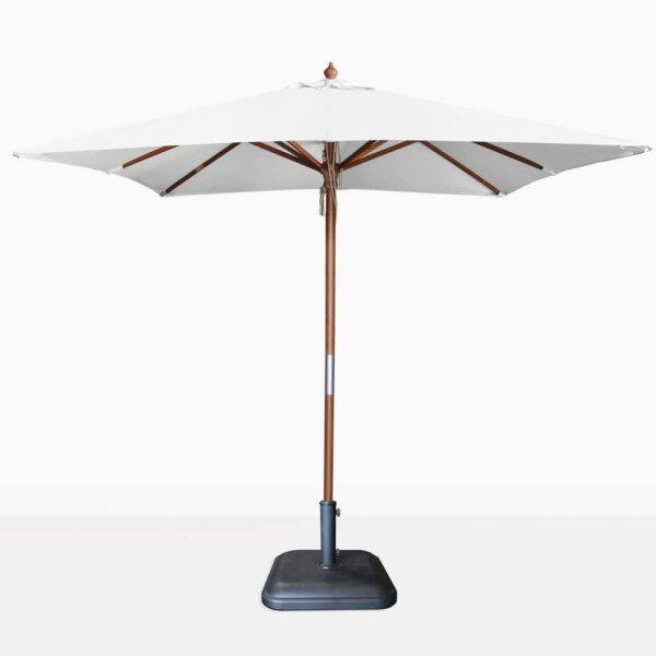 market square dixon umbrella - white