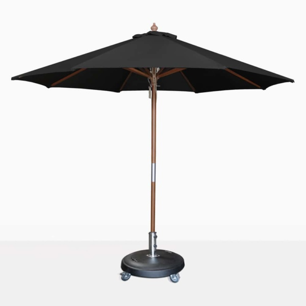 round dixon umbrella in black