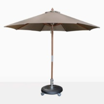 round umbrella - dixon in taupe