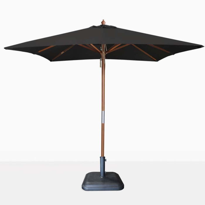 square dixon umbrella black