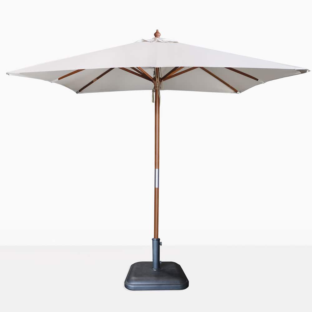 outdoor patio umbrellas bases and stands  teak warehouse - dixon sunbrella square umbrella (canvas)