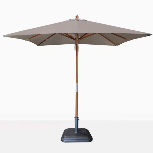 square dixon umbrella - taupe