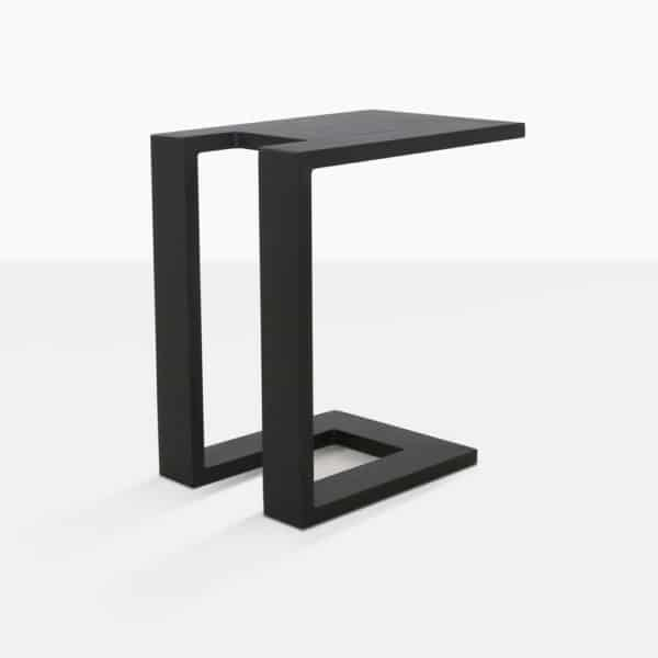 Montgomery black aluminum side table