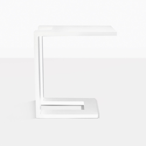 Montgomery White Aluminum Side Table