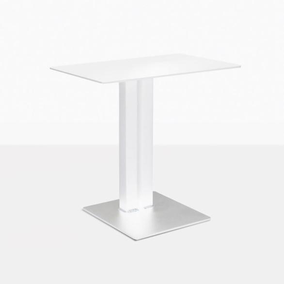 Barrett White Accent Table Barrett Aluminum White Side Table. U201c