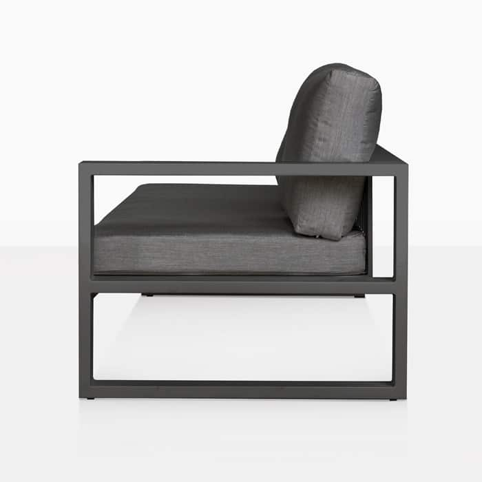 Mykonos Outdoor Sectional Sofa Left Arm Charcoal Teak
