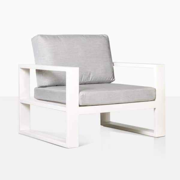 mykonos outdoor aluminum club chair in white