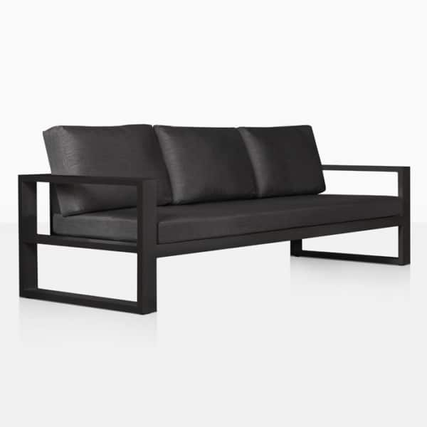 mykonos outdoor aluminum sofa in charcoal