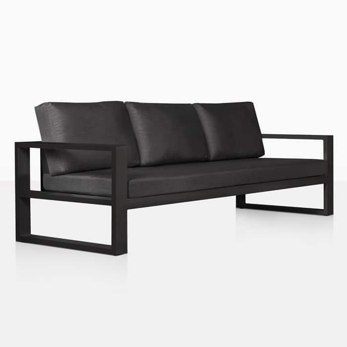 Mykonos Aluminum Outdoor Sofa (Charcoal)