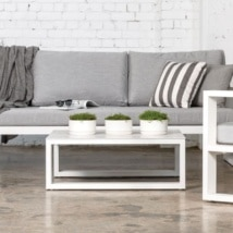 mykonos aluminum outdoor furniture collection in white