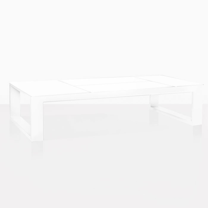 mykonos aluminum coffee table in white