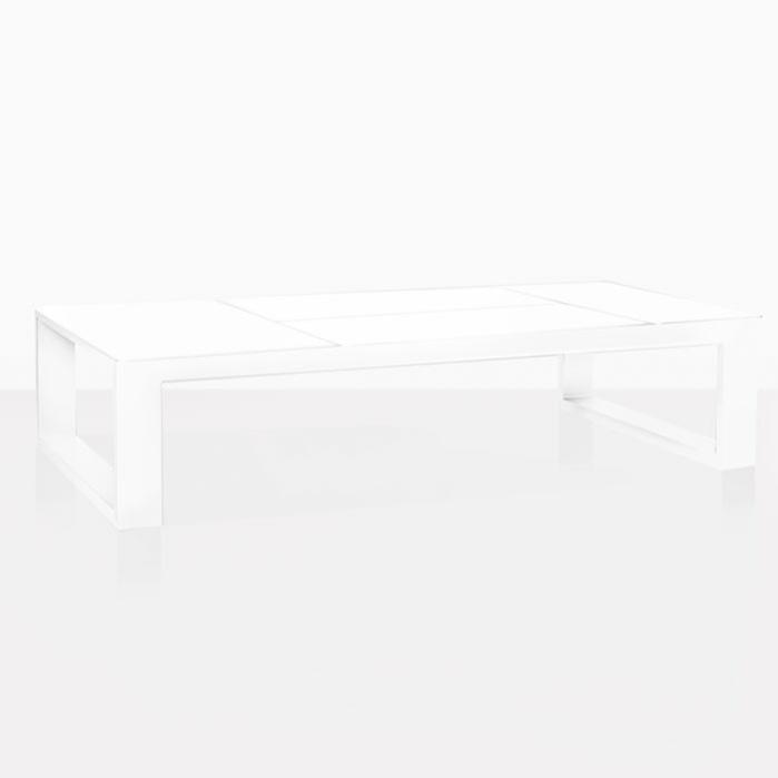 mykonos aluminum coffee table in white