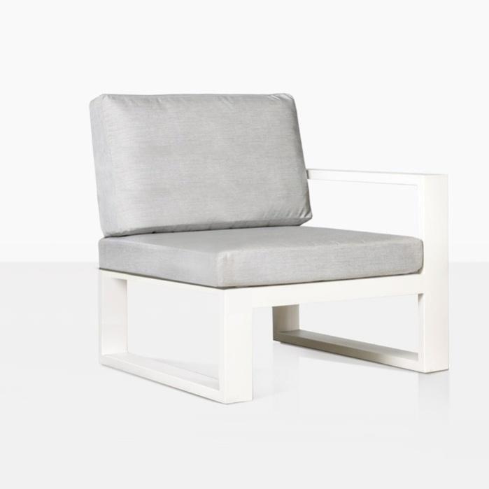 mykonos aluminum outdoor corner sectional in white