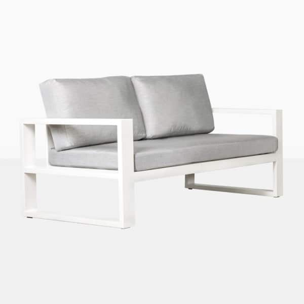 mykonos outdoor aluminum loveseat in white
