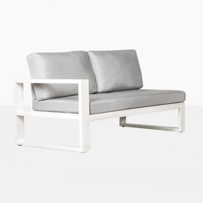 White Mykonos right arm loveseat - right