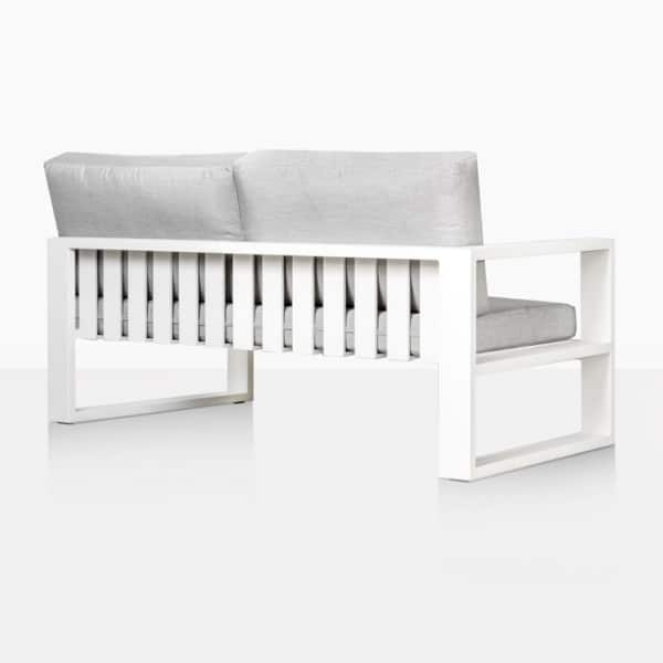 White Mykonos right arm loveseat - back