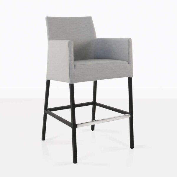 paddington aluminum bar stool in grey