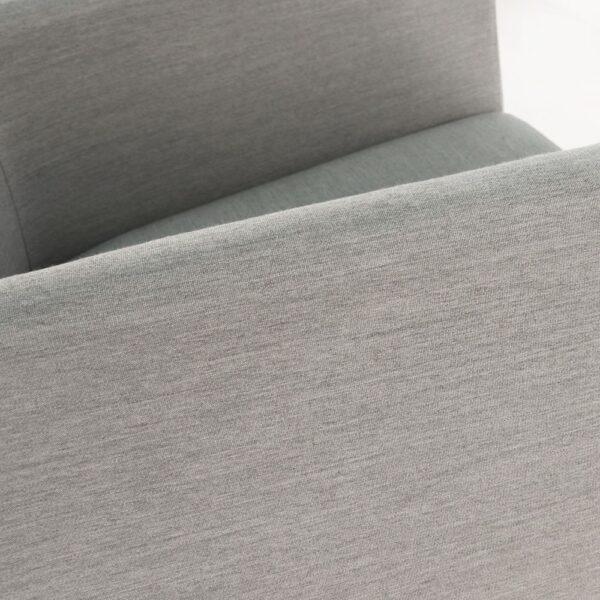 paddington aluminum bar stool in grey close up view