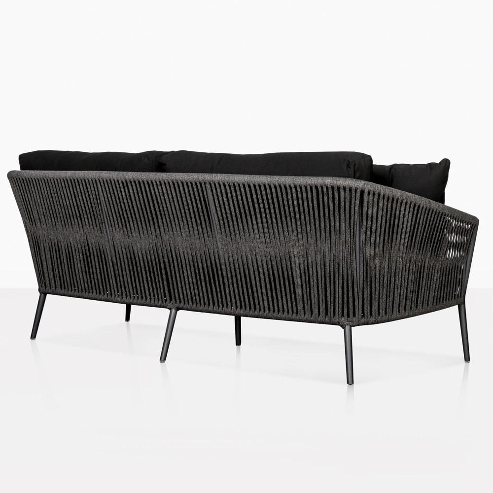 Washington Rope Outdoor Sofa Patio Lounge Seating Teak