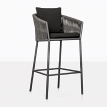 washington rope and aluminum bar stool