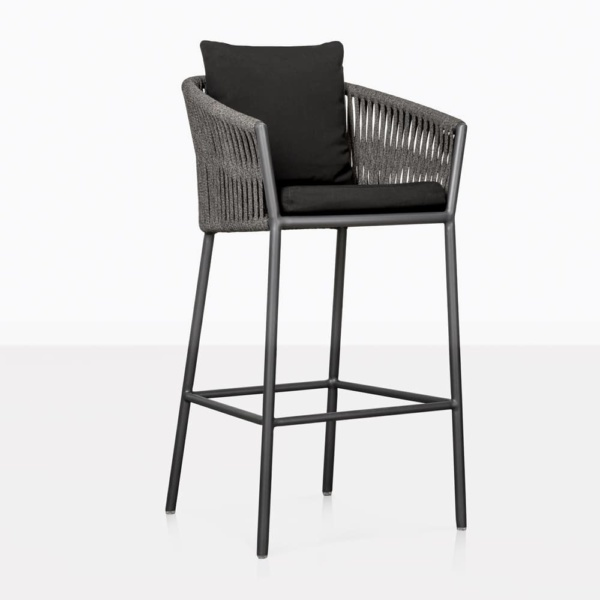 washington rope and aluminum bar stool