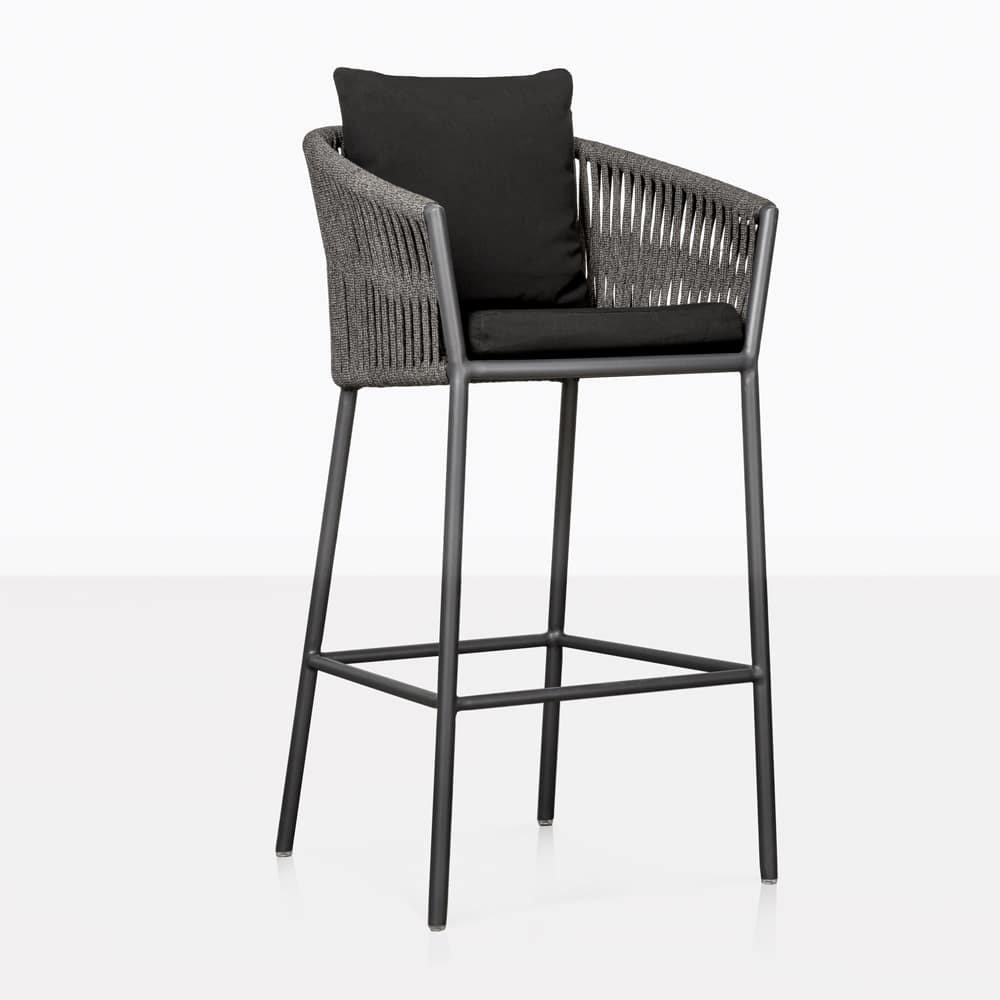 Washington Rope Outdoor Bar Stool Patio Furniture Teak