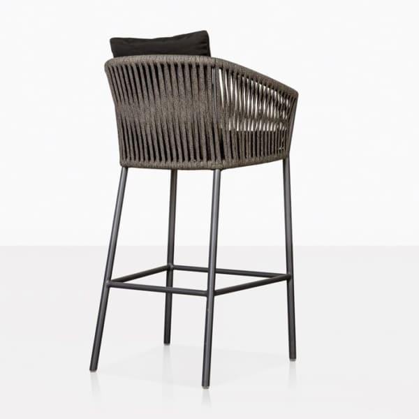 washington bar stool in black back view