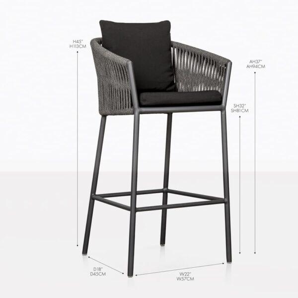 washington rope bar stools