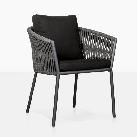 washington outdoor dining chair angle