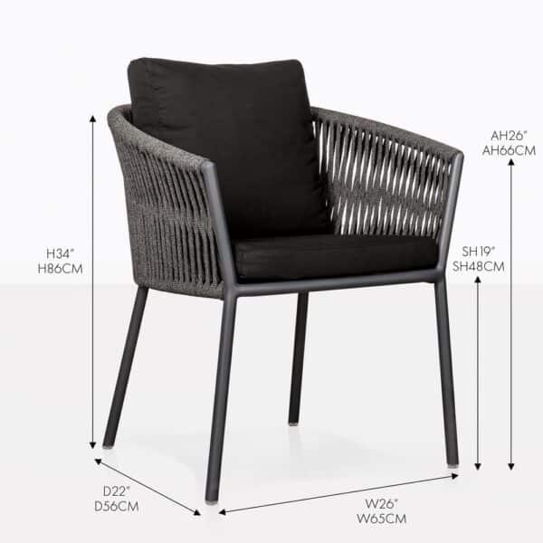 washington rope dining chair