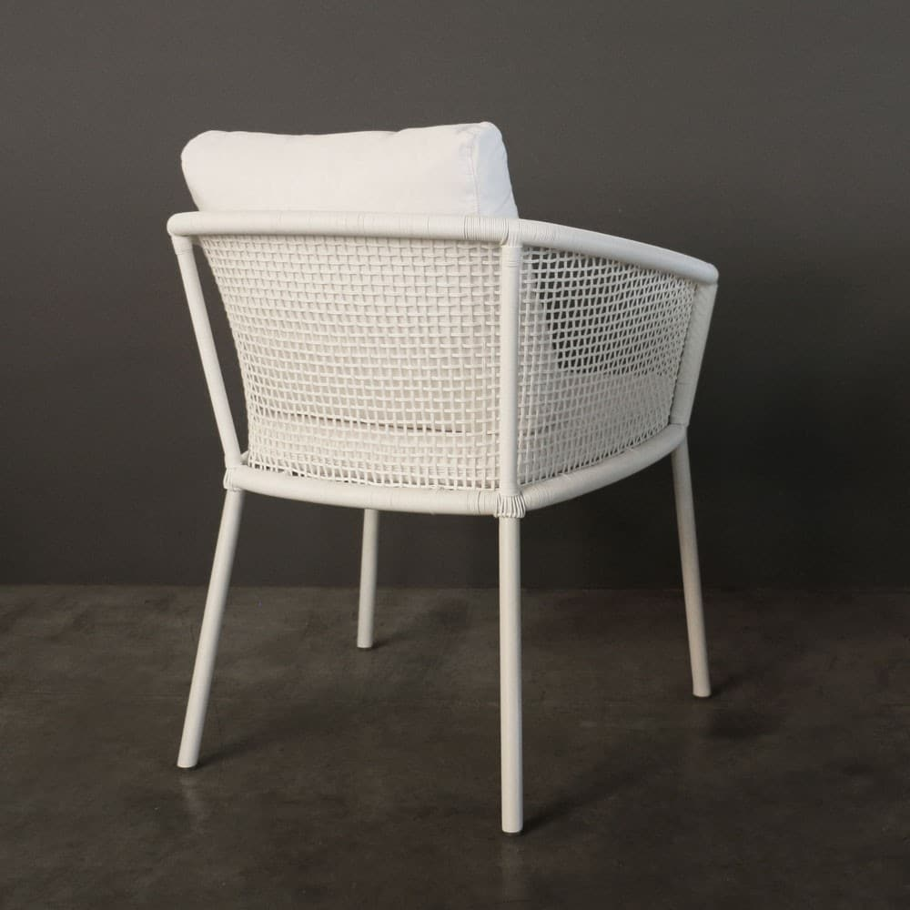 Washington White Woven Outdoor Dining Chair Caf 233 Seating
