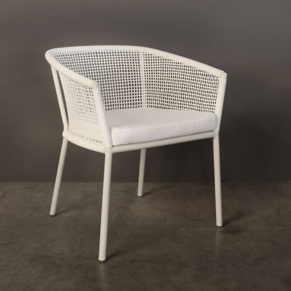 Washington White Dining Chair No Back Cushion